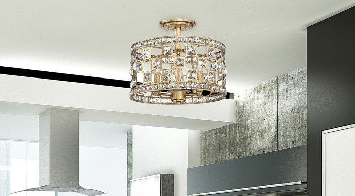 Bath Light Fixtures Great Buy Checkolite 17062 15: Clarion 3 Light Crystal Semi-Flush