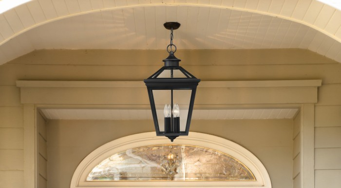 "Savoy House Ellijay 9/"" Steel Wall Lantern Black 5-141-BK Clear"