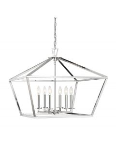 Townsend 6 Light Polished Nickel Lantern