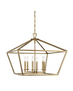 Townsend 6 Light Warm Brass Lantern