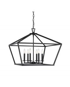 Townsend 6 Light Black Lantern
