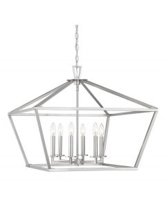 Townsend 6 Light Satin Nickel Lantern
