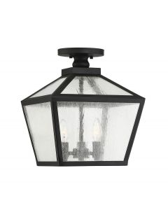 Woodstock 3 Light Outdoor Flush Mount Lantern