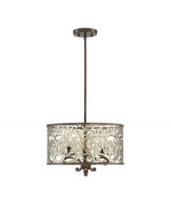Erhardt 3 Light Convertible Semi Flush/Pendant