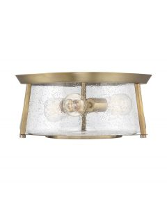 Dash 3 Light Warm Brass Flush Mount
