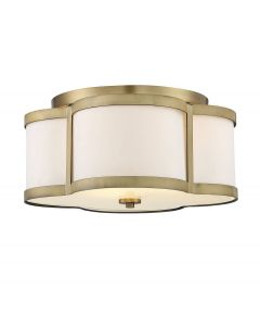 Lacey 3 Light Warm Brass Semi Flush