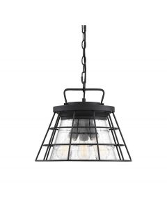 Farnham 3 Light Black Convertible Semi Flush/Pendant