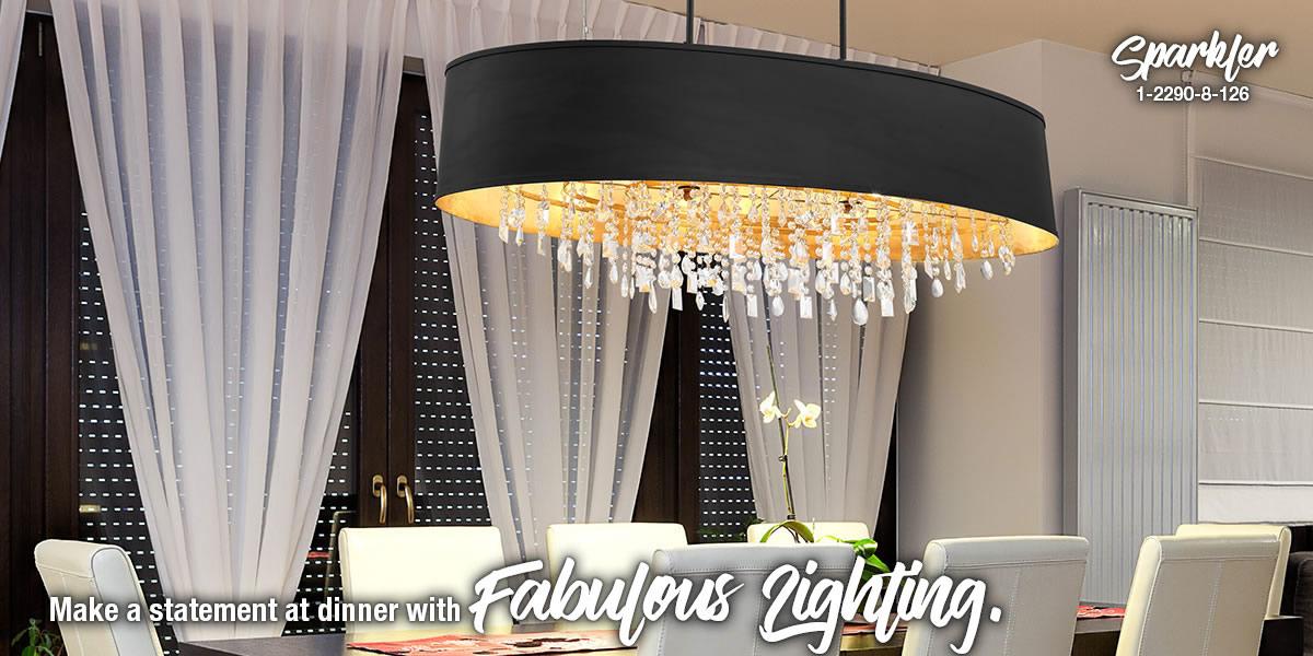 linear chandeliers
